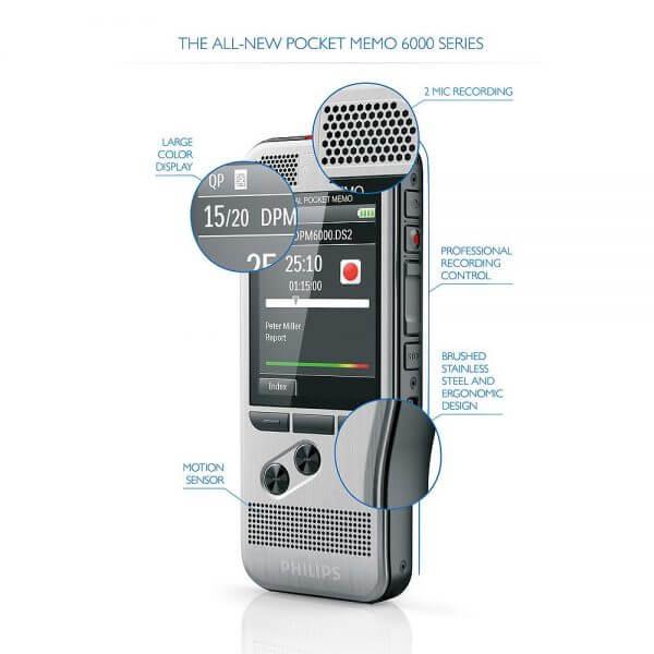 Philips Pocket Memo Voice Recorder DPM-6000