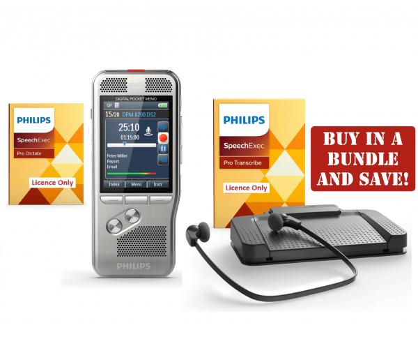 Philips DPM 8000 \ LFH-7277 - Premium Dictation and Transcription Bundle