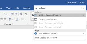 Microsoft Word Search Box