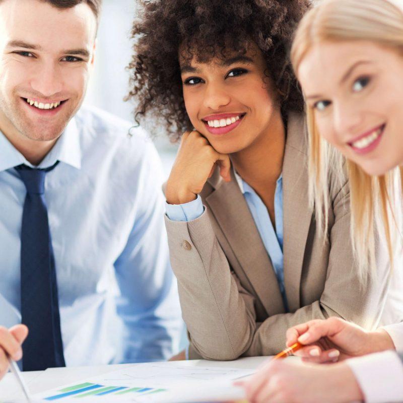 Three young professionals - Finance & Media Transcription