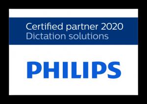 Philips dictation certified partner label 2020 RGB large en